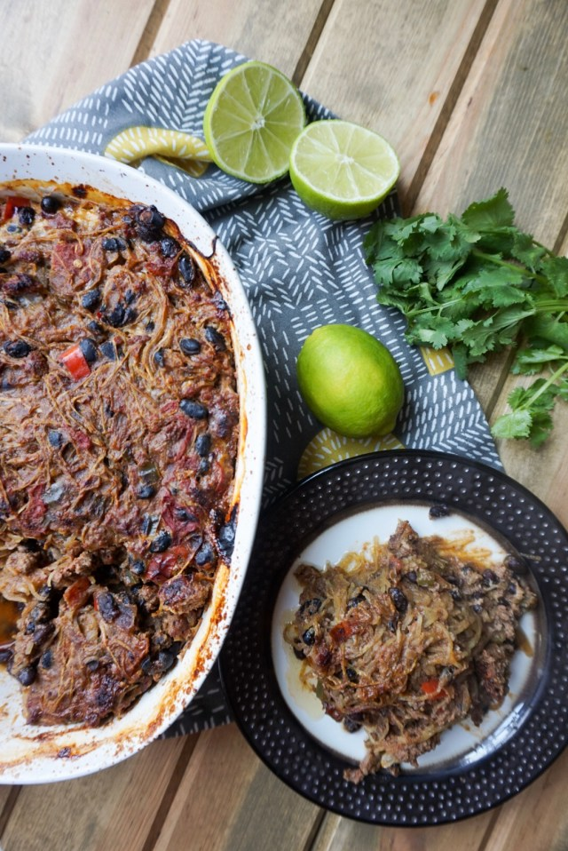 Low Carb Taco Bake with Paleo and Vegetarian options