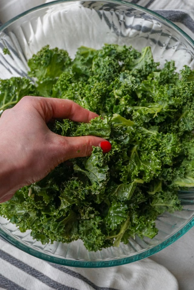 A simple method to take the bitterness out of raw kale