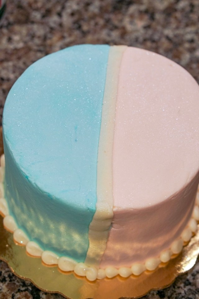 Charles Street Bakery Gender Reveal Cake
