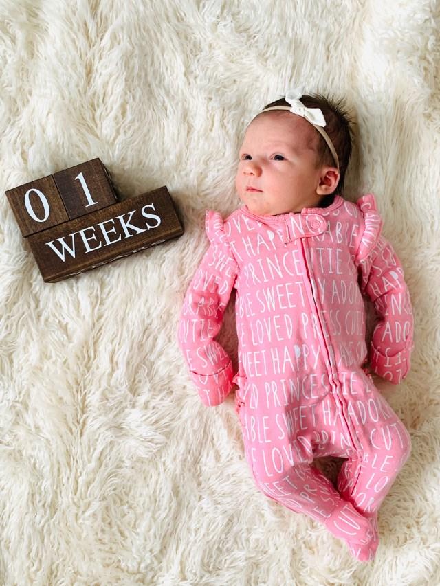 1 week old baby photo