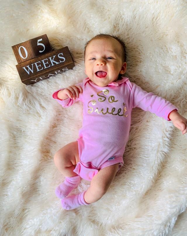 5 week old baby photo