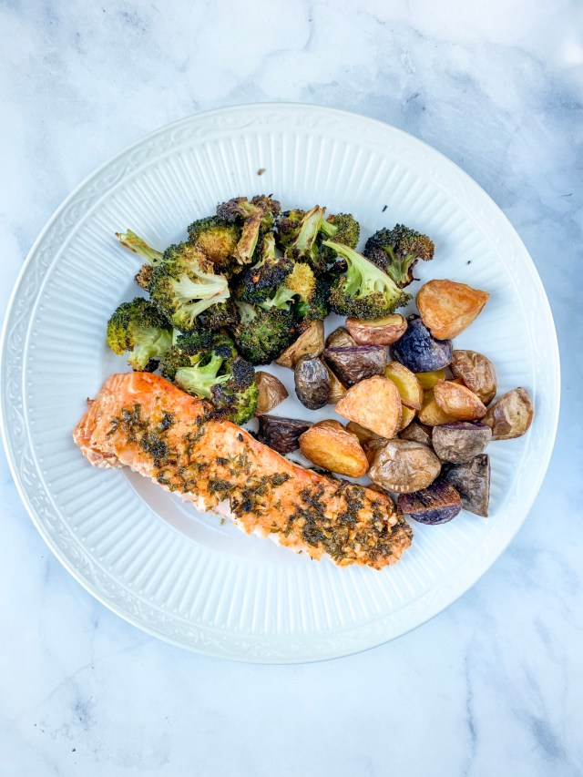 Herb Roasted Salmon and Veggies