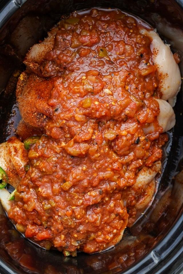 Three Ingredient Salsa Chicken Recipe