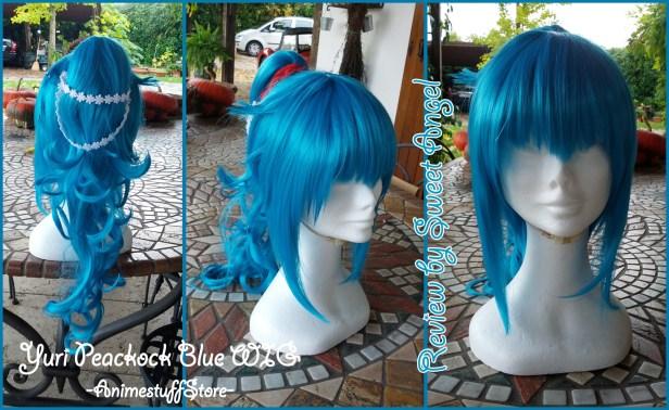 animestuffstore wig bpeackock blue