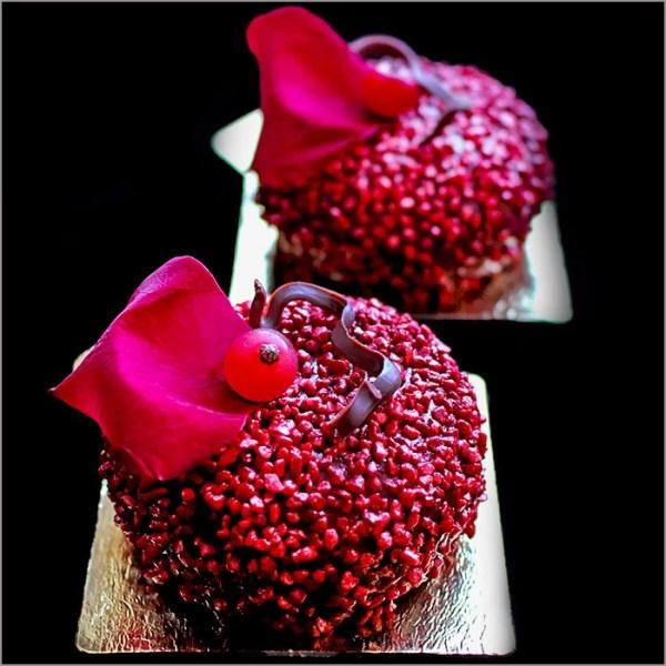 Red Berries Mousse Dessert with Rose Water - La Fleur d'Eva