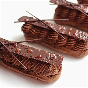 Chocolate Pastry Cream Eclairs