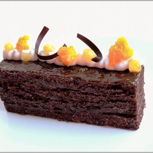 Sacher Torte Desserts ~ Apricot Dark Chocolate Brownie Sheet Cake