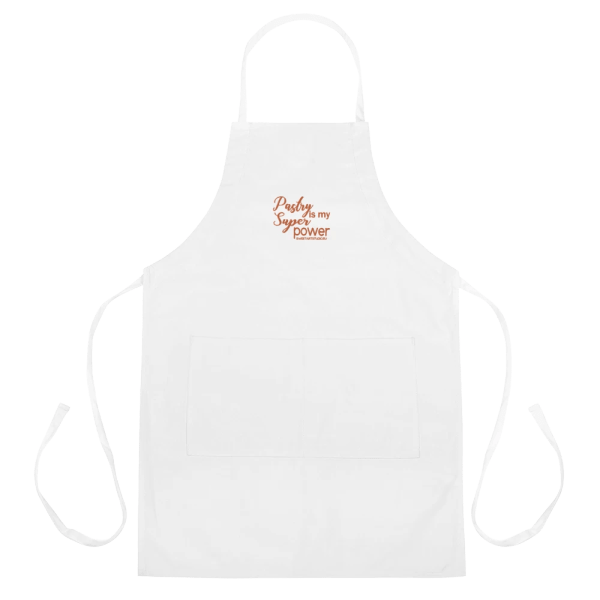 Pastry is my Superpower White Embroidered Apron