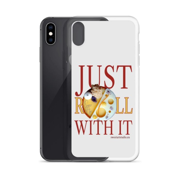 Just Roll With It Gray iPhone Case with Mango Orange Tart