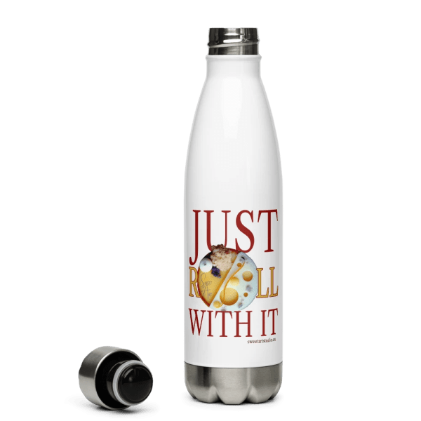 Just Roll with It Stainless Steel Water Bottle with Mango Orange Tart