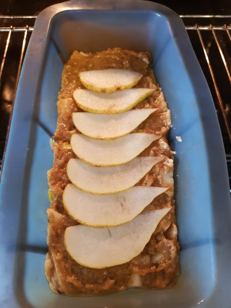 Pear and Ginger loaf