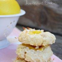 Lemon Coconut Thumbprint Cookies {with easy homemade lemon curd}
