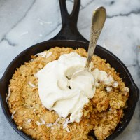 Mini Oatmeal Coconut Skillet Cookies