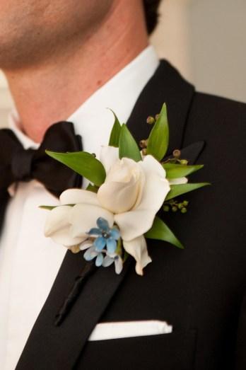 Gardenia and tweedia flower - Photo by Melissa Grimes-Guy Photography.