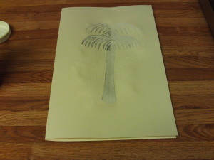 Glue The Palm Tree Cut-Out