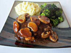 FC Day 16 – Salisbury Steak with Mushrooms & Brown Gravy