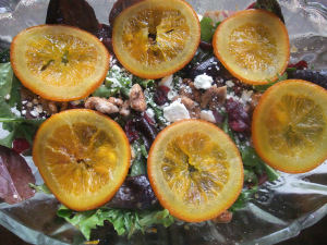 Recipe Swap – Candied Orange & Walnut Salad with Orange Balsamic Vinaigrette