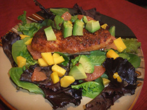 Cod, Mango, Grapefruit, and Avocado Salad