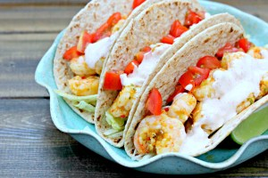 Taco Tuesday: Spicy Shrimp Tacos with Southwest Cream Sauce