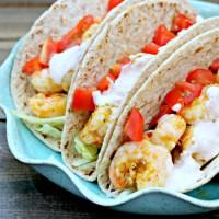 Taco Tuesday: Spicy Shrimp Tacos with Southwest Cream Sauce