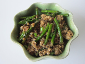 Spicy Pork with Asparagus and Hatch Chiles