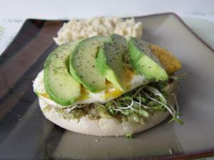 Secret Recipe Club: English Muffin with Avocado, Eggs, and Pesto