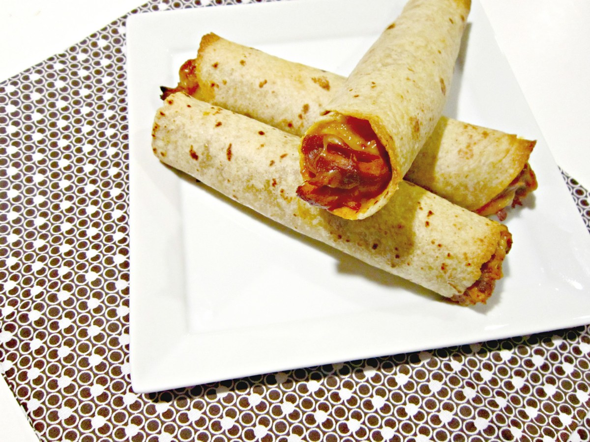 Taco Tuesday: Creamy Raspberry Chipotle BBQ Chicken Taquitos