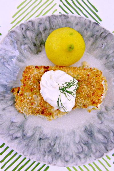 Crispy Baked Cod with Lemon-Dill Sauce and a Moment to Remember…