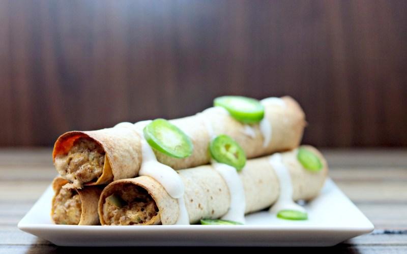 Taco Tuesday:  Beef Jalapeno Popper Taquitos
