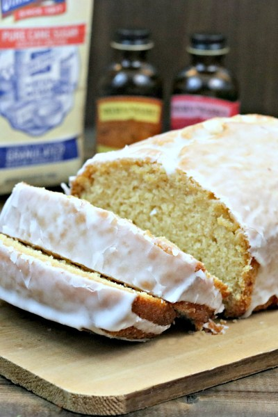 Champagne Pound Cake with Rose Water Frosting #BrunchWeek