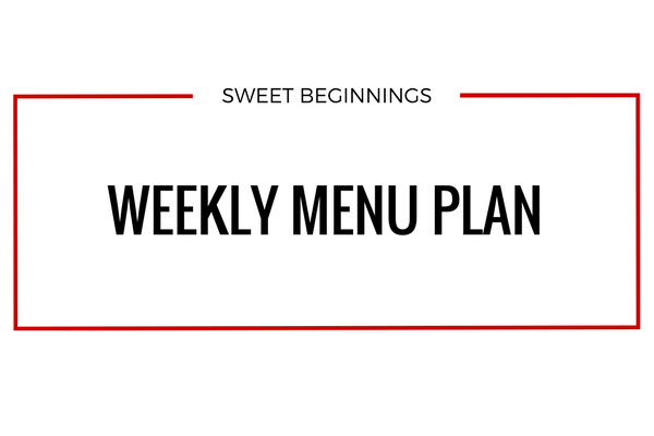 Weekly Menu: Week of 1/21/18