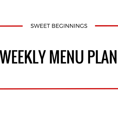 Weekly Menu – Week of 6/25/17