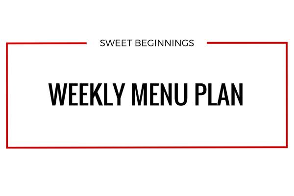 Weekly Menu – Week of 2/18/18