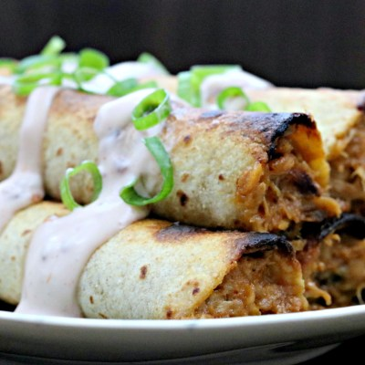 Taco Tuesday: Creamy Raspberry Chipotle BBQ Pulled Pork Taquitos
