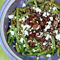Dijon Maple Green Beans with Caramelized Pecans