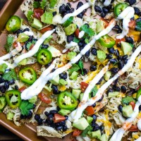 Sheet Pan Loaded Chicken Nachos