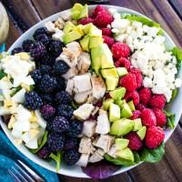 Chicken Cobb Salad with Berries