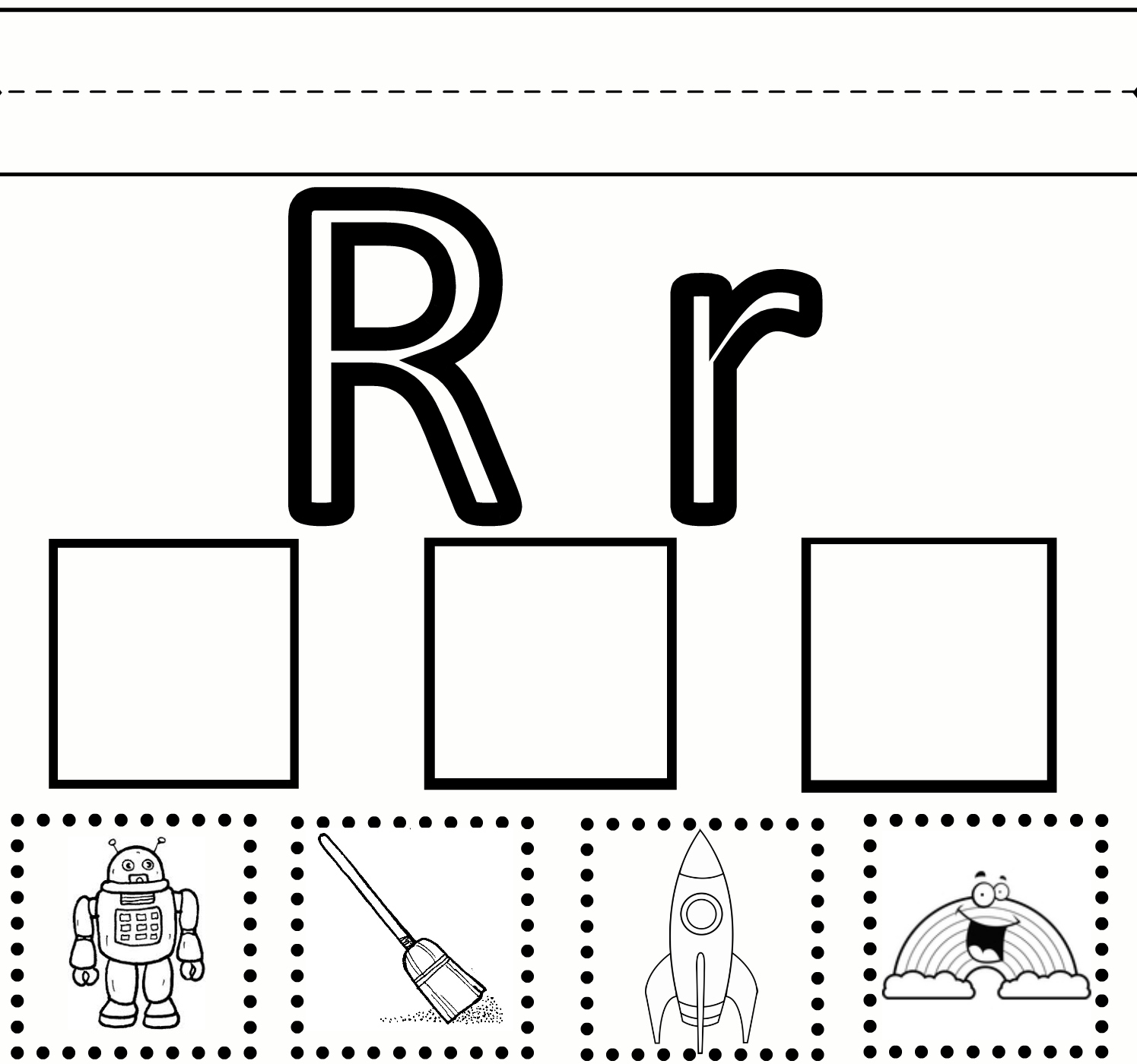 Preschool Learning Letter R Worksheet Free Printable