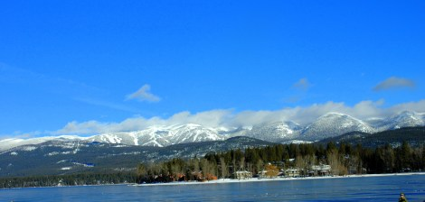 Ski Mountain over Whitefish Lake