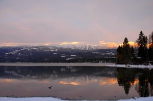 Whitefish Lake with Alpenglow