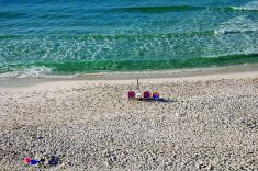 Destin Beach with Chairs & Ocean
