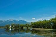 Nine Pipes, Pond, Mission Mountains, Teepee