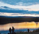 Couples Sunset Stillwater Lake