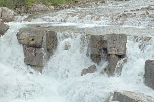 Waterfall, Swift Current, Many Glacier, Close Up