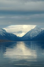 Snow Scape on the Water, Lake McDonald