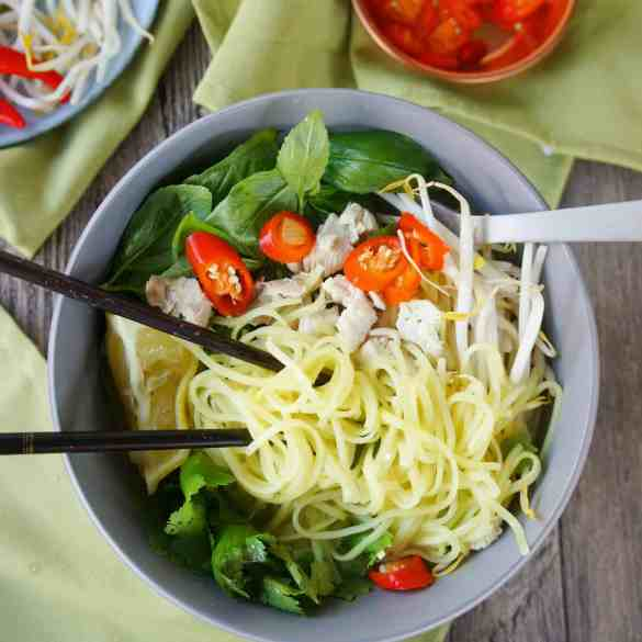 Asian Inspired Chicken Noodle Bowl - 4