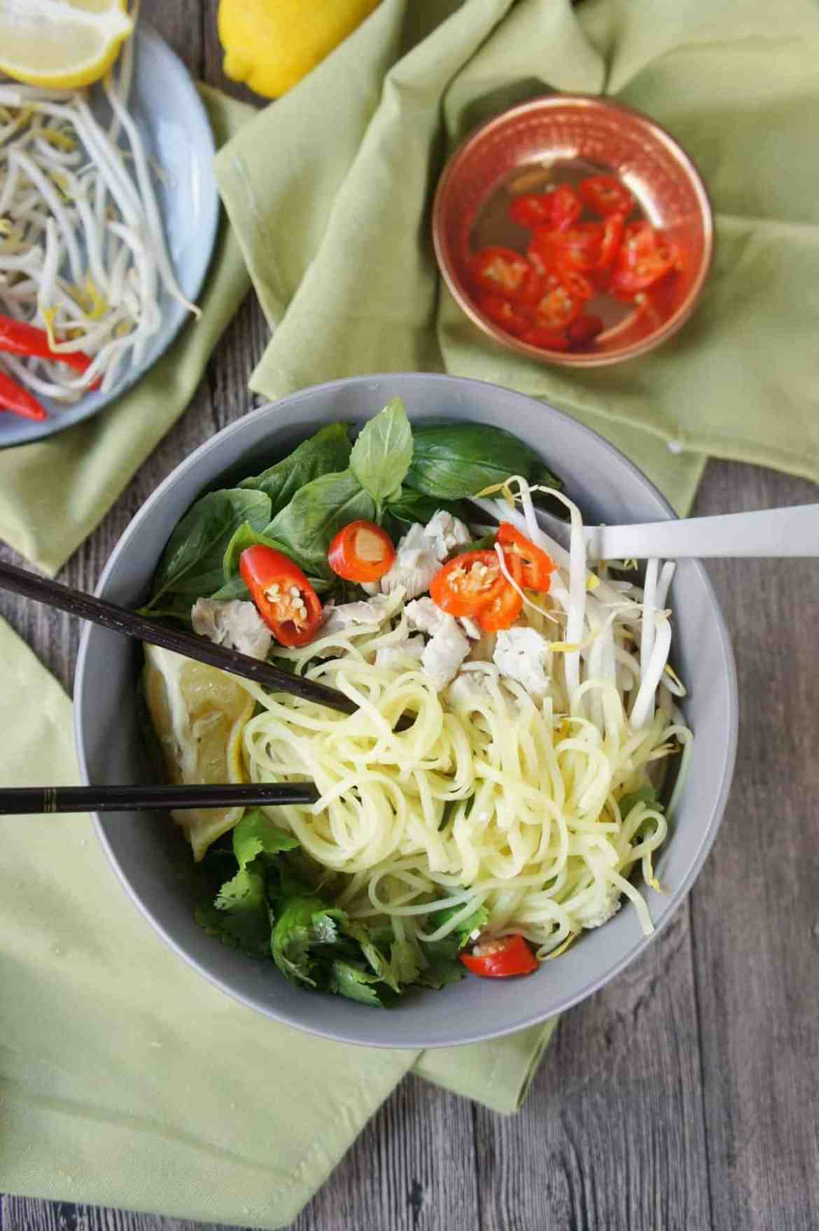 Asian Inspired Chicken Noodle Bowl