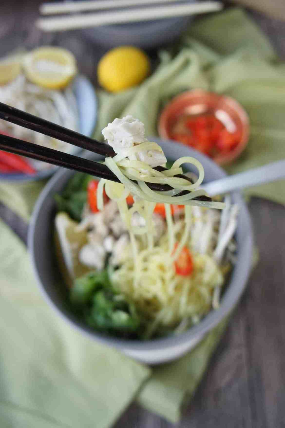 Asian Inspired Chicken Noodle Bowl 3