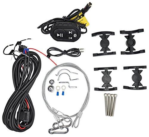 (2) Boss 6.5″ 750 Watt Powered Marine Bluetooth Wakeboard