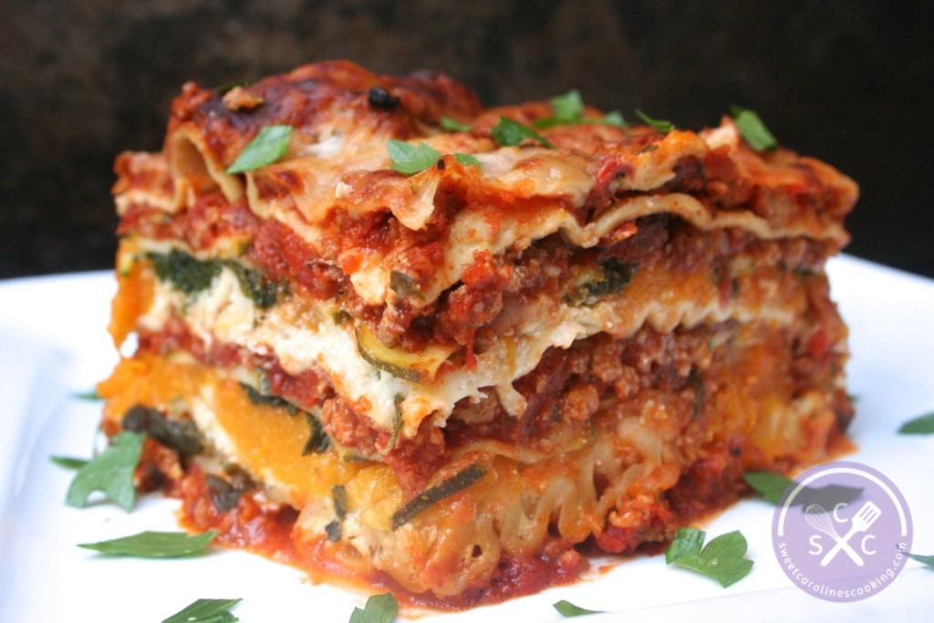 Ground Turkey Lasagna W Butternut Squash Zucchini Spinach